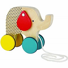 Jumping Jumbo Elephant Wood Pull Toy