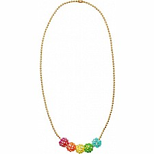 Sparkling gem bead necklace