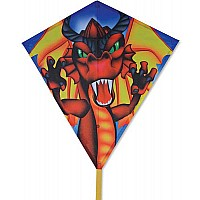 30 in. Diamond Kite - Flame Wing Dragon