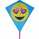 30 in. Diamond Kite - Luv Emoji