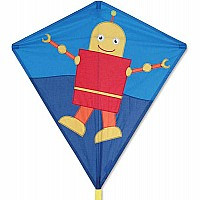 30 in. Diamond Kite - Happy Robot
