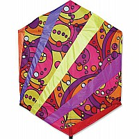 56 in. Rokkaku Kite - Warm Orbit