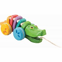 Rainbow Alligator - Pull Along Toy
