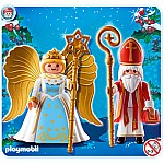 Saint Nicholas and Angel - RETIRED PRODUCT