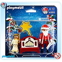 4889 Little Angel and Santa Claus With Organ