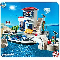5128 Harbor Police Station With Speedboat