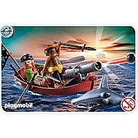 5137 Pirates Rowboat With Shark