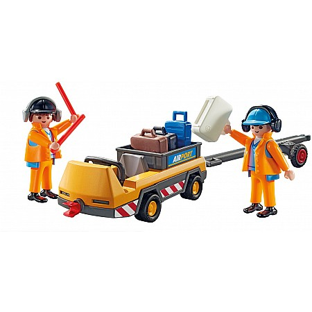 Playmobil - Aircraft Tug with Ground Crew City Action