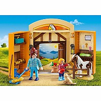 PLAYMOBIL Pony Stable Play Box Playset