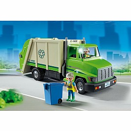Playmobil - Green recycling truck