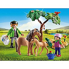 PLAYMOBIL Vet with Pony and Foal Playset