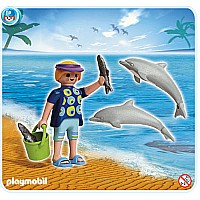 Dolphin Trainer with Dolphins