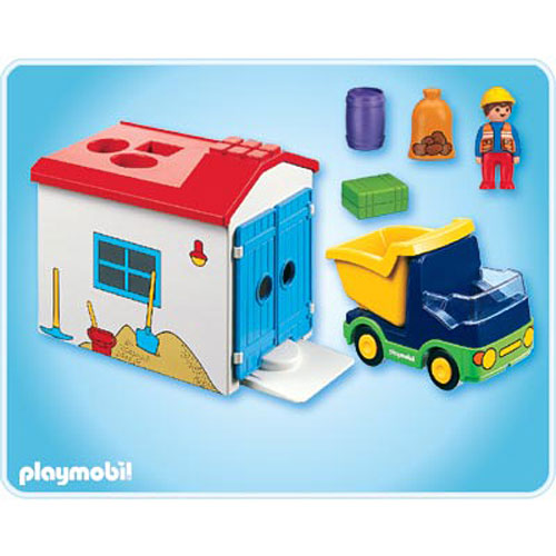1 2 3 truck w garage by playmobil on barstons childs play. Black Bedroom Furniture Sets. Home Design Ideas