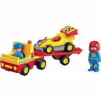 6761 Racing Car with Trailer
