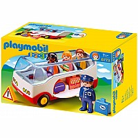 Playmobil 1.2.3 Airport Shuttle Bus 6773
