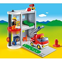 Playmobil 1.2.3 Take Along Fire Station