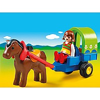 Playmobil 123 Pony Wagon with Girl