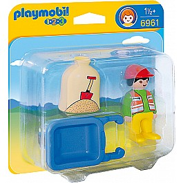 Playmobil - Worker with Wheelbarrow 1 12 years+