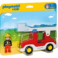 PLAYMOBIL 123 LADDER UNIT FIRE TRUCK
