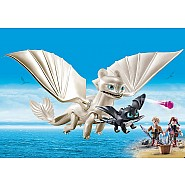 PLAYMOBIL Light Fury and Baby Dragon with Kids