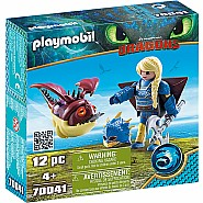 PLAYMOBIL DRAGONS: Astrid with flight suit and Hobgobbler