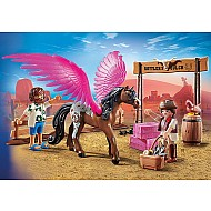 Playmobil:The Movie Marla And Del With Flying Horse