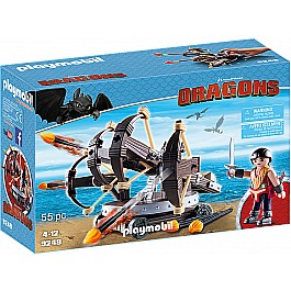 Playmobil - Eret with 4 Shot Fire Ballista Dragons