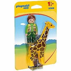 Playmobil 123 Zookeeper with Giraffe