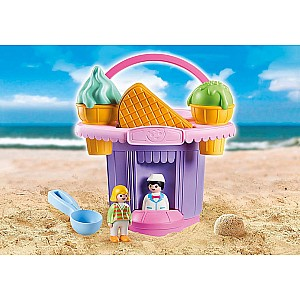 Ice Cream Shop Sand Bucket