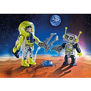 PLAYMOBIL Astronaut and Robot Duo Pack