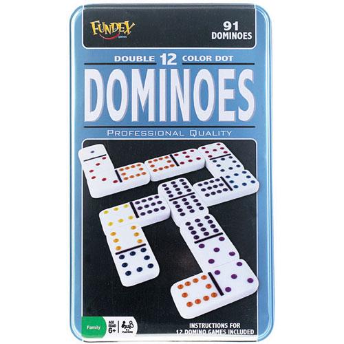 Double 12 Dominoes In Tin Poof Slinky