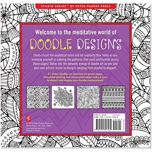 Doodle Designs Adult Coloring Book (31 stress-relieving designs ...