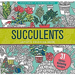 Succulents Artist's Coloring Book