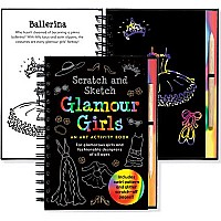 Scratch and Sketch Glamour Girls (Art Activity Book)