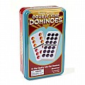 Double Nine Color Dot Dominoes In Tin