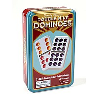 Double Nine Color Dominoes In Tin