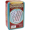 Double Twelve Color Dot Dominoes In Tin