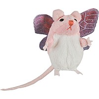 Finger Puppets - Mouse (Pink with Wings)
