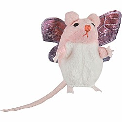 Finger Puppet - Pink Mouse with Wings