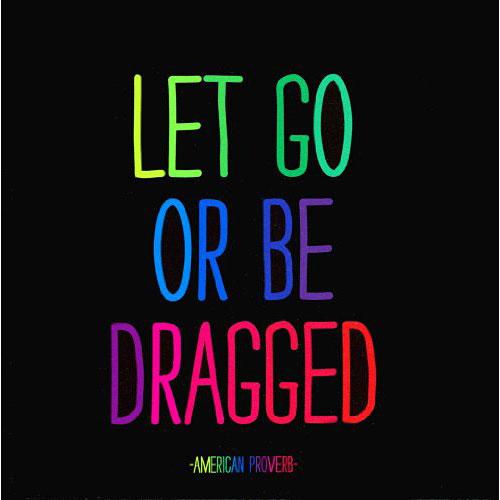 Magnet Let Go Or Be Dragged American Proverb Quote G Willikers