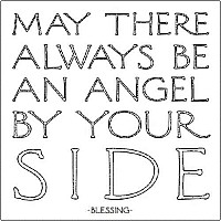 "Quotable Magnet ""Angel By Your Side"" -Solomon"