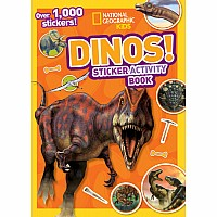 National Geographic Kids Dinos Sticker Activity Book: Over 1,000 Stickers!