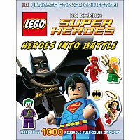 DK LEGO Heroes Into Battle DC COMICS STICKER Book