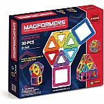 Magformers Rainbow 30 Piece Magnetic Set