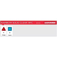 Solids Clear Rainbow 14pc Set