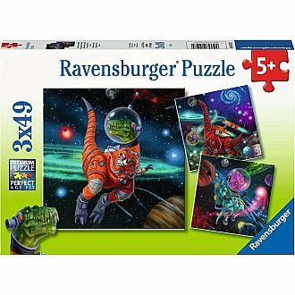 Dinosaurs In Space 3 X 49Pc Puzzles