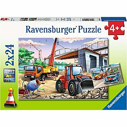 2X24Pc Puzzle - Construction And Cars