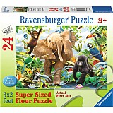 24 Piece Jungle Juniors Floor Puzzle