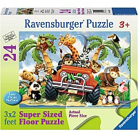 24 Piece 4 Wheeling Floor Puzzle