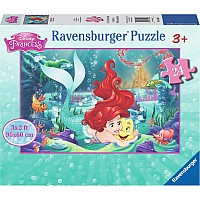 24 Piece Hugging Ariel Floor Puzzle